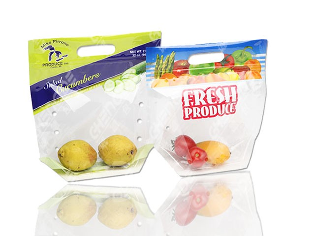 micro-perforated plastic bag packaging  for fresh vegetable and fruit