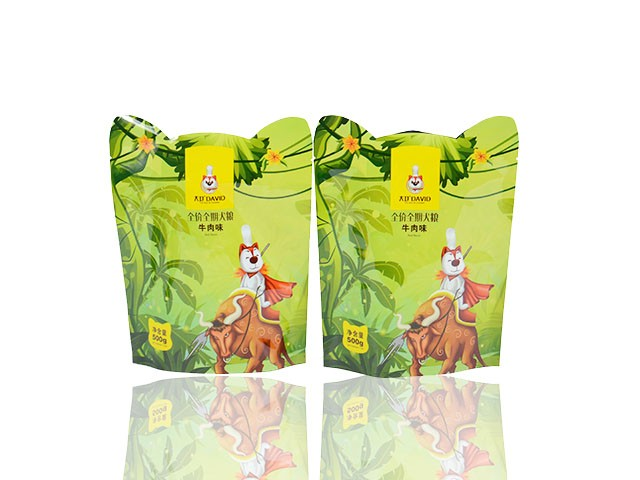 plastic special shaped laminated pouch for dog food