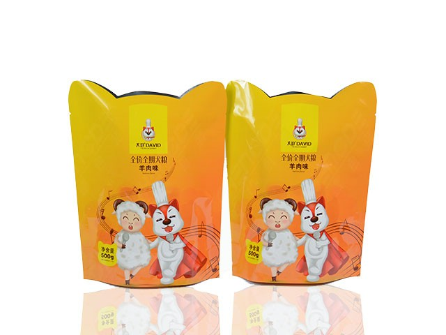 special shaped composite pouch for pet food